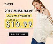 Zaful must have lace-up sweater promotion