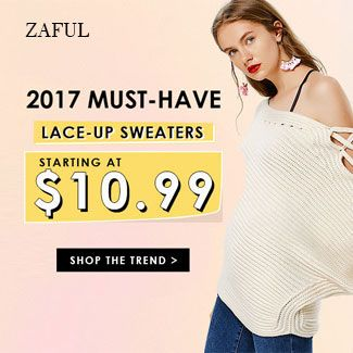 must have lace-up sweater promotion