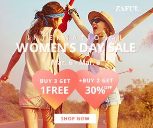 Zaful zaful Womens Day 2018 Offer promotion