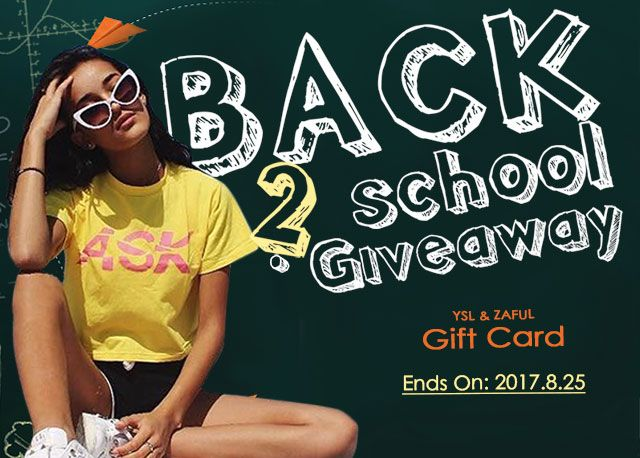 Zaful Back To School Giveaway