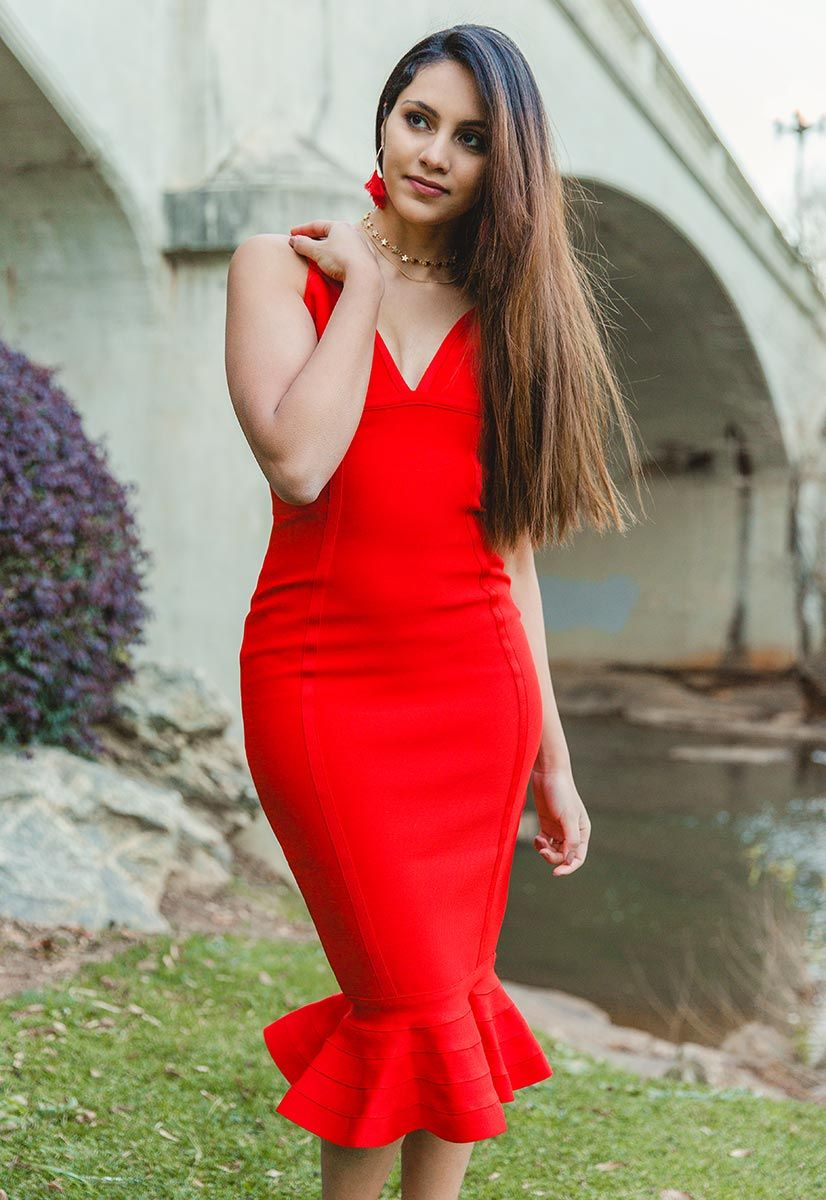 Cami Mermaid Bandage Dress