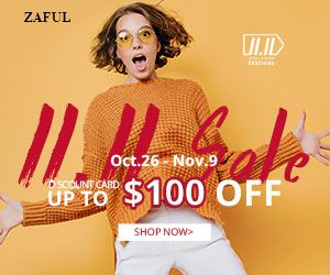 Zaful Pre-heating for Zaful global shopping festival. Up to $100 OFF discounted card. Limited amount and limited time. Never miss out! promotion