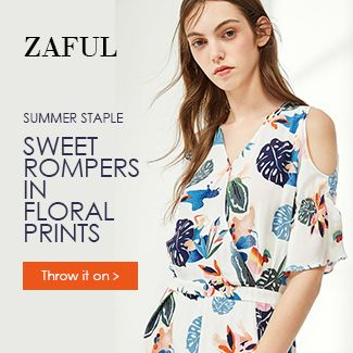 Zaful Sweet rompers in Floral prints promotion