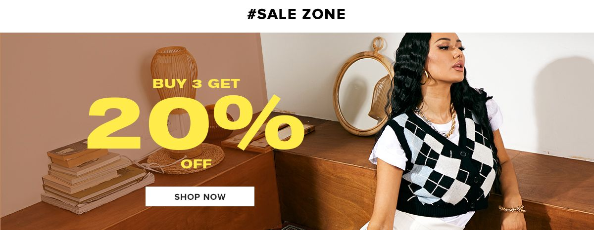 zaful.com - Get Flat 20% discount on purchase of 3 Clothing for Women