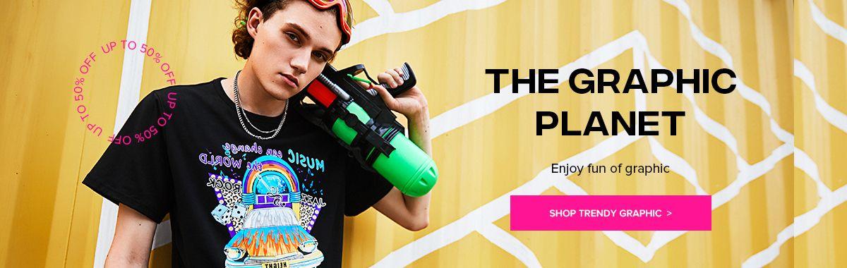 zaful.com - Upto 50% Discount on Men's Graphic Print Fashion
