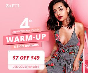 Zaful 4th Anniversary Sale Guide promotion