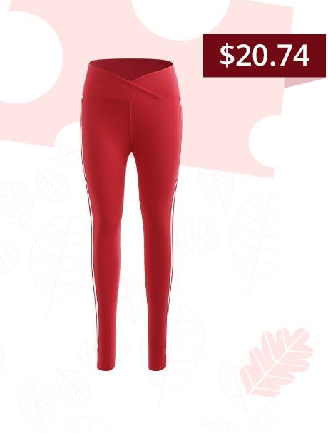 A Red Sporty Leggings