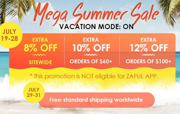 Zaful Mega Summer Sale