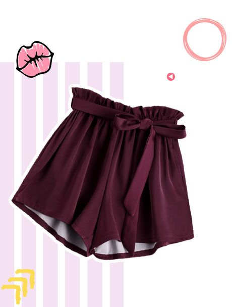 Shorts Con Cinturón