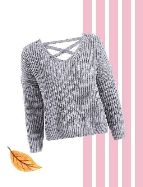 A Lace Up Sweater