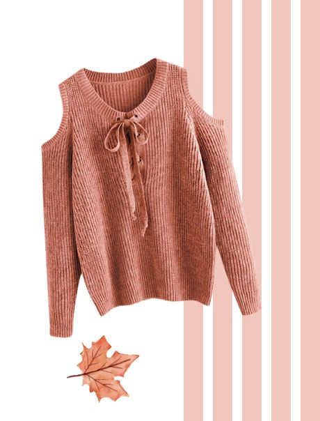 A Cold Shoulder Sweater
